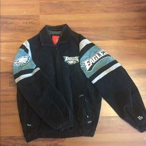 NFL Men's Philadelphia Eagles Suede Leather Jacket